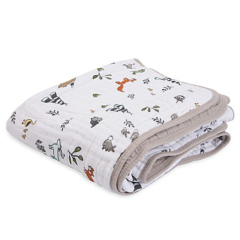 Little Unicorn Forest Friends Cotton Muslin Quilt Bed
