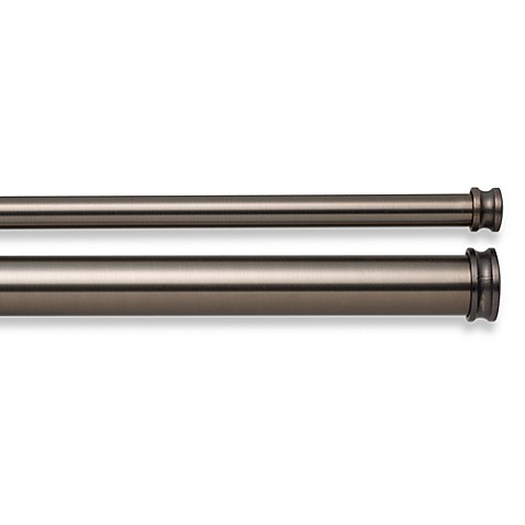 Cambria Premier Complete Double Drapery Rod In Oil Rubbed Bronze Bed Bath Beyond
