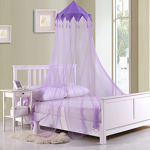 Buy Casablanca Kids Harlequin Bed Canopy In Purple From