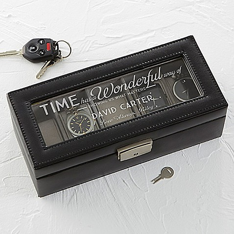 Timeless Message Leather 5-Slot Watch Box at Bed Bath & Beyond in Cypress, TX   Tuggl