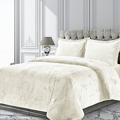 Tribeca Living Venice Velvet Duvet Cover Set at Bed Bath & Beyond in Cypress, TX | Tuggl