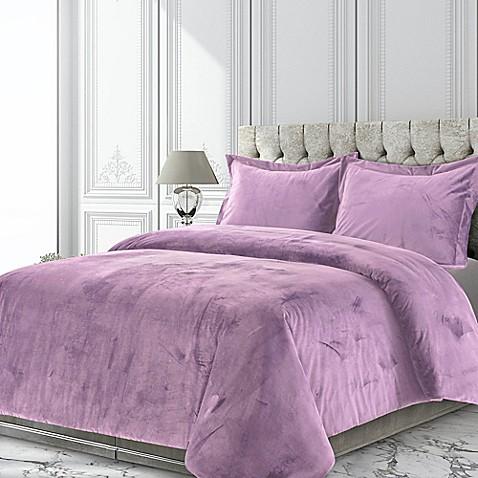 Tribeca Living Venice Velvet Duvet Cover Set Bed Bath