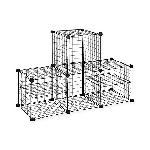 Grid Wire Modular Shelving And Storage Cubes Bed Bath