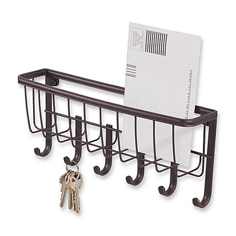 Interdesign wall mount mail key rack in bronze bed bath beyond - Key racks for wall ...
