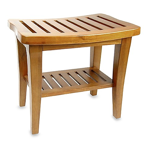Teak Wood Shower Bench Bed Bath Beyond