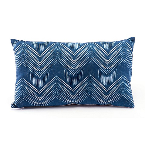Zuo® Modern Ikat Throw Pillow in Blue/Natural at Bed Bath & Beyond in Cypress, TX | Tuggl
