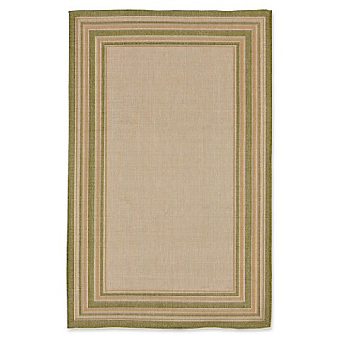 Liora Manne Multi Border Indoor/Outdoor Rug in Natural/Green at Bed Bath & Beyond in Cypress, TX | Tuggl