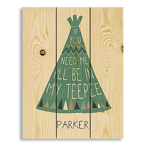 Designs Direct In My Teepee Pallet Wooden Wall Art at Bed Bath & Beyond in Cypress, TX | Tuggl