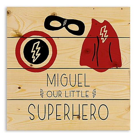 Designs Direct Our Little Superhero Wooden Wall Art at Bed Bath & Beyond in Cypress, TX | Tuggl
