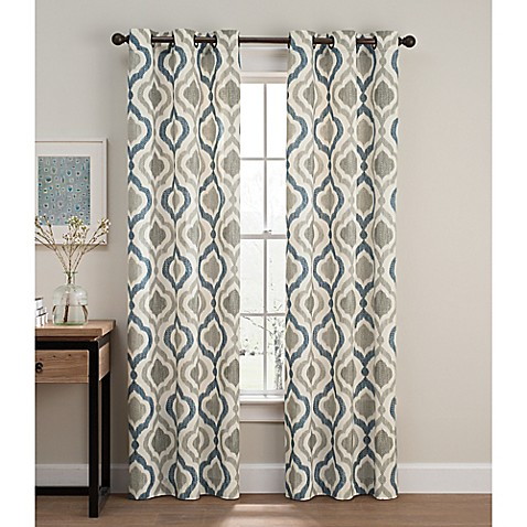 Cambree Ogee Grommet Window Curtain Panel Pair at Bed Bath & Beyond in Cypress, TX | Tuggl