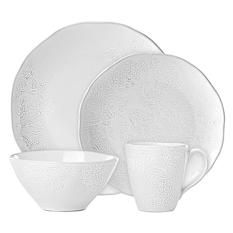 Lenox® French Carved™ Flower Dinnerware Collection in White at Bed Bath & Beyond in Cypress, TX | Tuggl