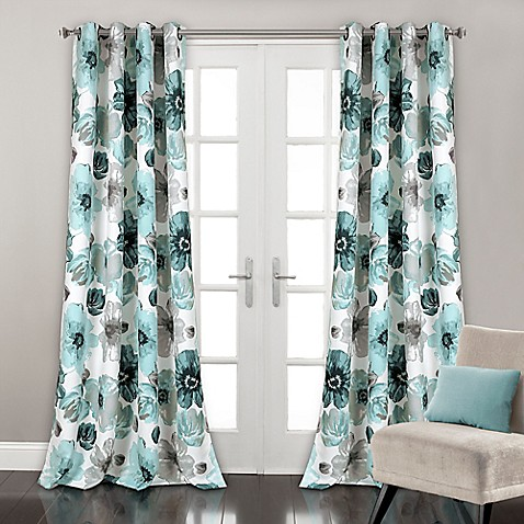 lush d cor leah grommet top room darkening window curtain panel pair bed bath beyond. Black Bedroom Furniture Sets. Home Design Ideas