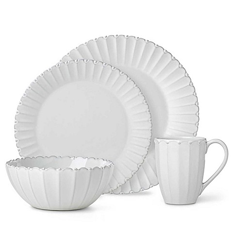 Lenox® French Carved™ Bead Dinnerware Collection in White at Bed Bath & Beyond in Cypress, TX | Tuggl