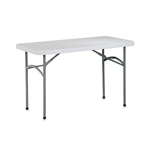 Resin folding multi purpose 4 foot table bed bath beyond for Table pliante walmart