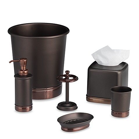 York oil rubbed bronze metal bath ensemble bed bath beyond - Rubbed oil bronze bathroom accessories ...