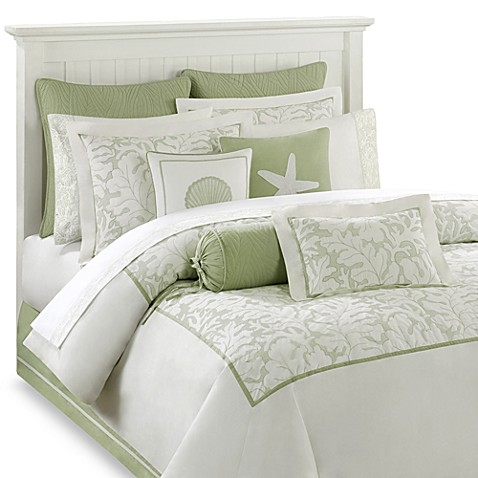 Harbor House Brisbane Comforter Set In White Sage Bed
