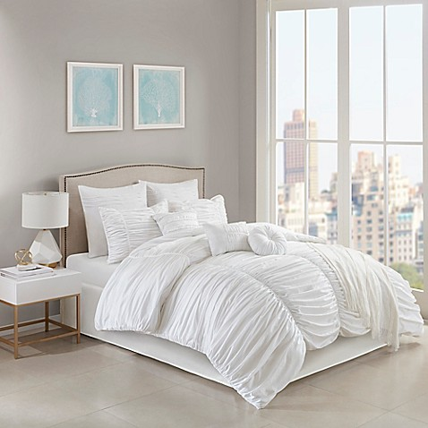 Jasmine Comforter Set in White at Bed Bath & Beyond in Cypress, TX   Tuggl