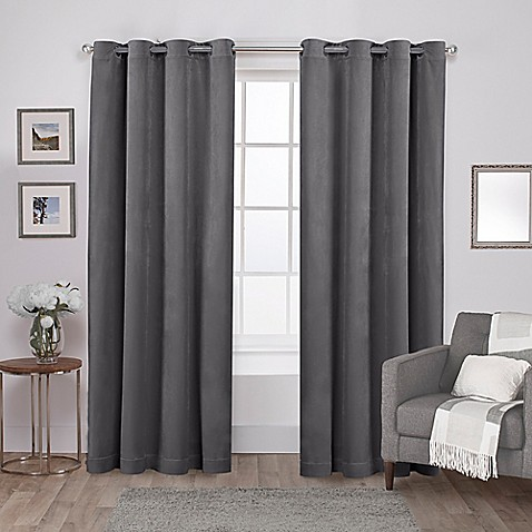Velvet Grommet Top Window Curtain Panel Pair at Bed Bath & Beyond in Cypress, TX | Tuggl
