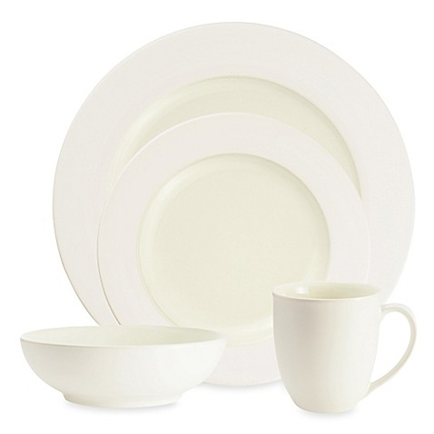 Noritake® Colorwave Rim Dinnerware Collection in White at Bed Bath & Beyond in Cypress, TX | Tuggl