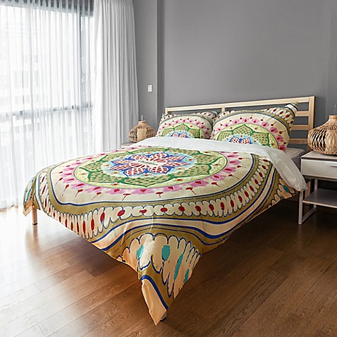 Designs Direct Boho Medallion King Duvet Cover in Green at Bed Bath & Beyond in Cypress, TX | Tuggl