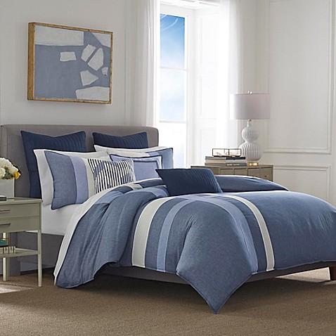 Nautica® Waterbury Full/Queen Comforter Set in Navy at Bed Bath & Beyond in Cypress, TX | Tuggl