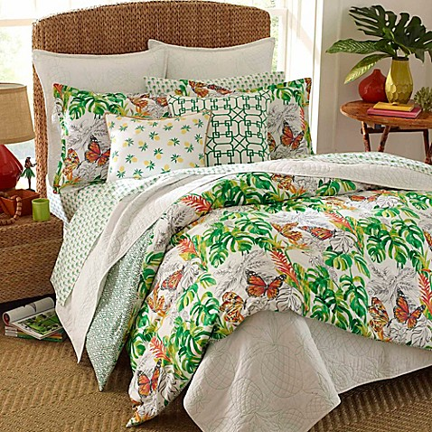 Nine Palms Butterfly Garden Duvet Cover Set at Bed Bath & Beyond in Cypress, TX | Tuggl