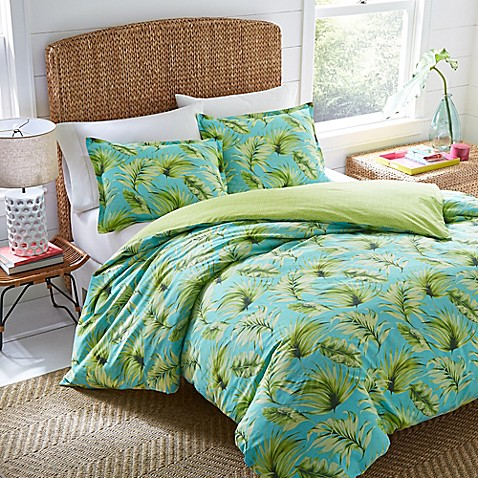 Nine Palms Palm Cove Reversible Duvet Cover Set at Bed Bath & Beyond in Cypress, TX | Tuggl