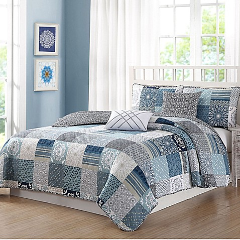 Quaint Home Avignon Reversible Quilt Set at Bed Bath & Beyond in Cypress, TX | Tuggl