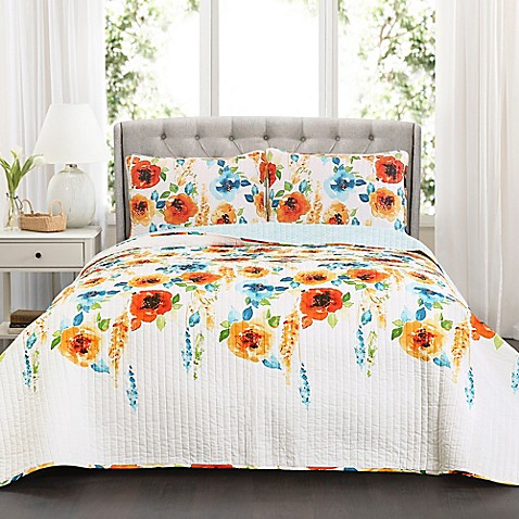Lush Decor Percy Bloom Quilt Set at Bed Bath & Beyond in Cypress, TX | Tuggl
