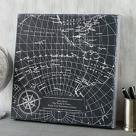 Industrial World Map Canvas Print at Bed Bath & Beyond in Cypress, TX | Tuggl