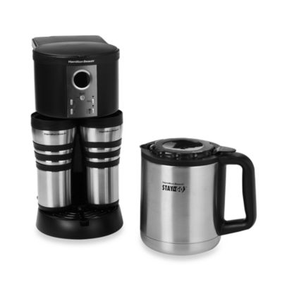 Buy Hamilton Beach Stay or Go Custom Pair Thermal Stainless Steel Coffee Maker from Bed Bath ...
