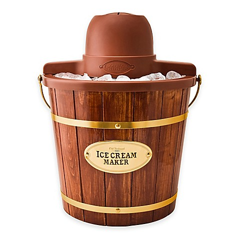 Nostalgia Electrics Old Fashioned Wood Ice Cream Maker