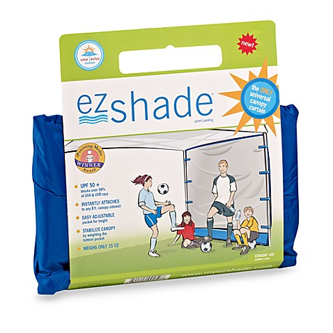 Ezshade Upf 50 Portable Straight Canopy Curtain Bed Bath Beyond