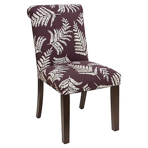 Skyline Furniture Linen Upholstered Dining Chair in Purple at Bed Bath & Beyond in Cypress, TX   Tuggl