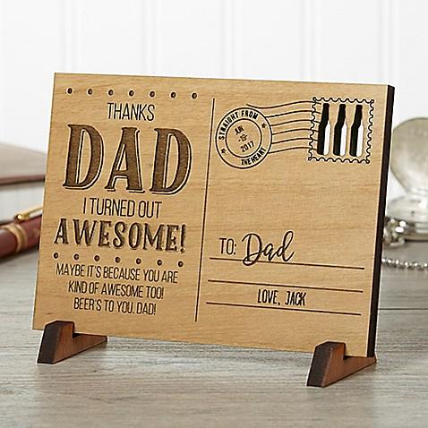 Sending Love To Dad Wood Postcard at Bed Bath & Beyond in Cypress, TX   Tuggl