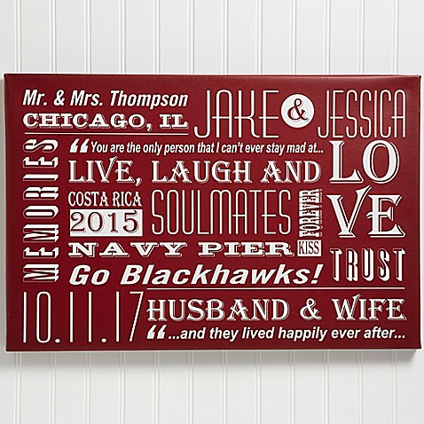 Our Life Together Canvas Wall Art at Bed Bath & Beyond in Cypress, TX | Tuggl