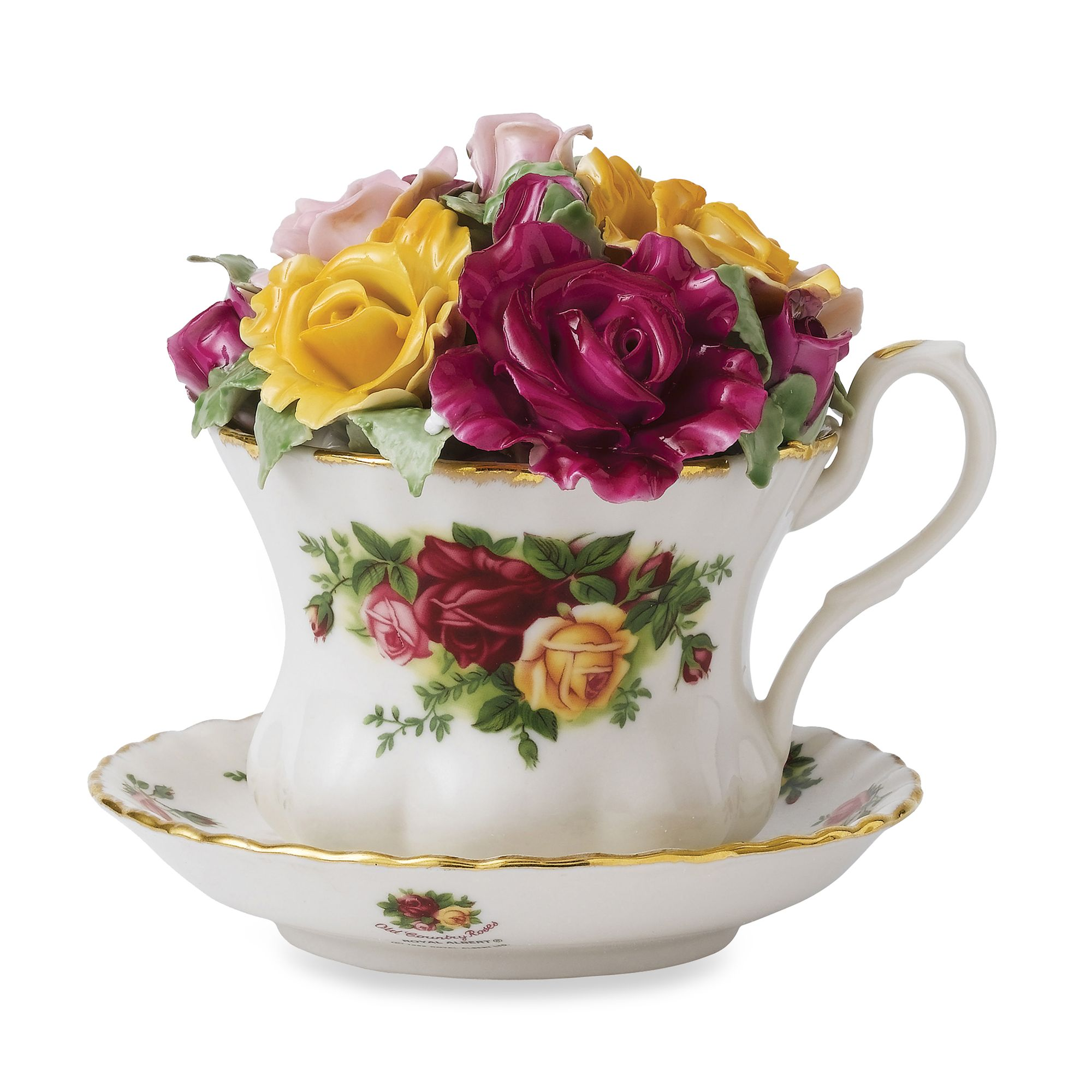 Royal Albert Old Country Roses Musical Teacup by Bed Bath And Beyond