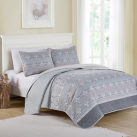 Vcny Home Kagney Reversible Quilt Set by Bed Bath And Beyond