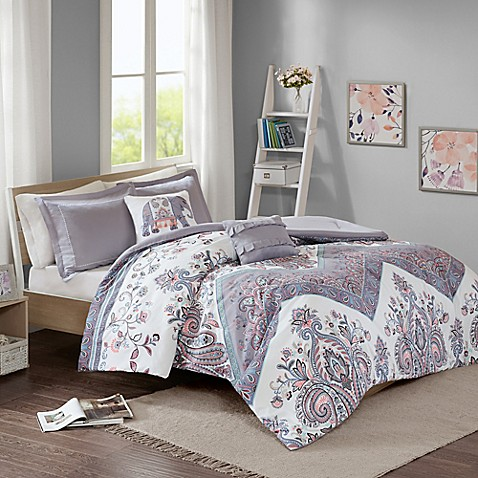 buy intelligent design kylie twin twin xl duvet cover set in lilac from bed bath beyond. Black Bedroom Furniture Sets. Home Design Ideas