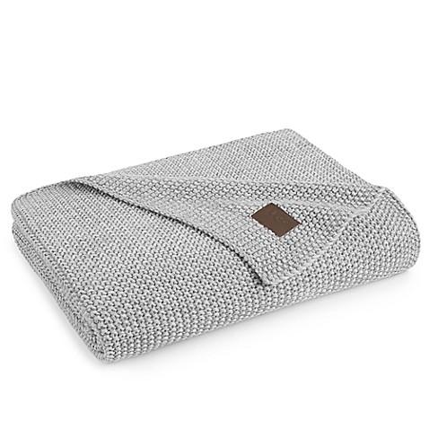 UGG® Summer Knit Throw Blanket in Grey   Tuggl