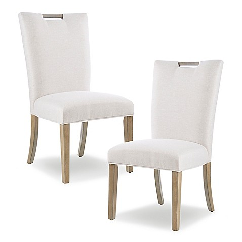 Madison Park™ Microfiber Upholstered Dining Chairs in Natural (Set of 2) at Bed Bath & Beyond in Cypress, TX   Tuggl