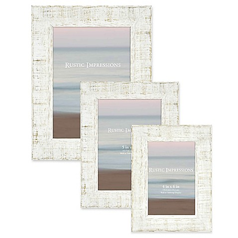 Rustic Textured Wood Picture Frame in White at Bed Bath & Beyond in Cypress, TX | Tuggl