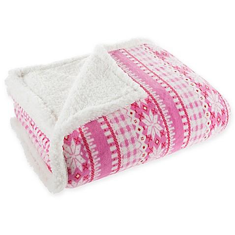 Nottingham Home Sherpa Fleece Throw Blanket   Tuggl