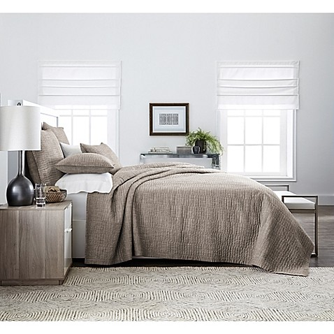 Real Simple® Dune Chambray Coverlet at Bed Bath & Beyond in Cypress, TX | Tuggl