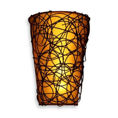 Decorative Battery Operated Wall Lights : It s Exciting Lighting Battery Powered LED Wicker Shade Wall Sconce with Remote Control ...