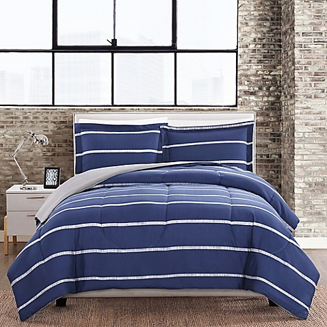 Simple Stripe 3-Piece Comforter Set at Bed Bath & Beyond in Cypress, TX | Tuggl