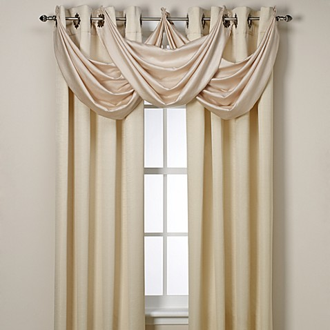 Buy Insola Odyssey Insulating Waterfall Window Valance In Beige From Bed Bath Beyond