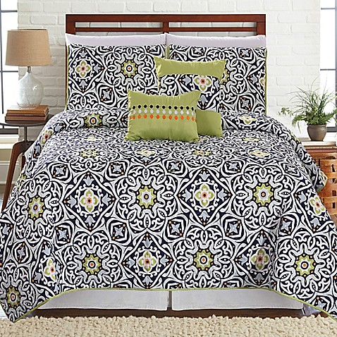 Cadiz Printed Reversible Quilt Set at Bed Bath & Beyond in Cypress, TX | Tuggl