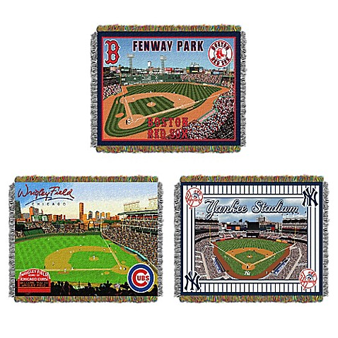 MLB Home Stadium Woven Tapestry Throw Blanket Collection   Tuggl