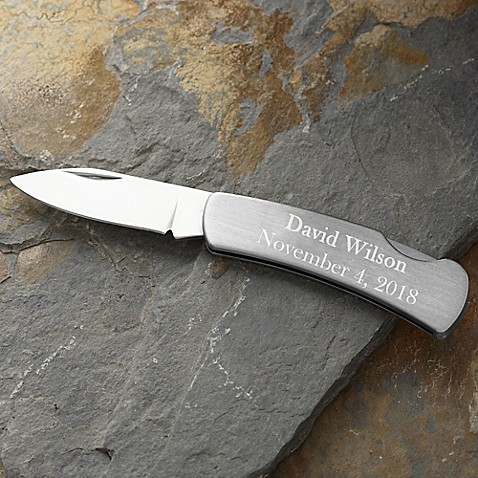 Silver Lock-Back Pocket Knife | Tuggl